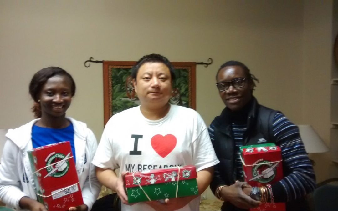 Operation Christmas Child Shoe Box Packing Party Meets International Student Ministry